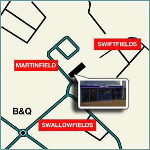 Head Office map, Swallow Field