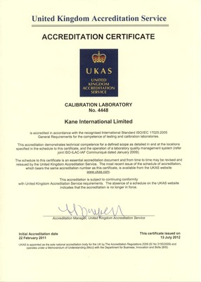 ISO/IEC 17025:2005 UKAS Accrediation